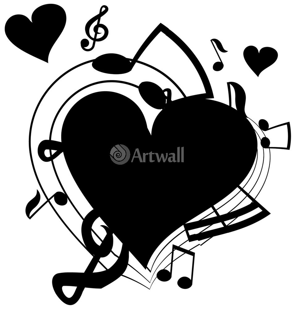 Наклейка «Любов к музыке»Любовь<br><br>