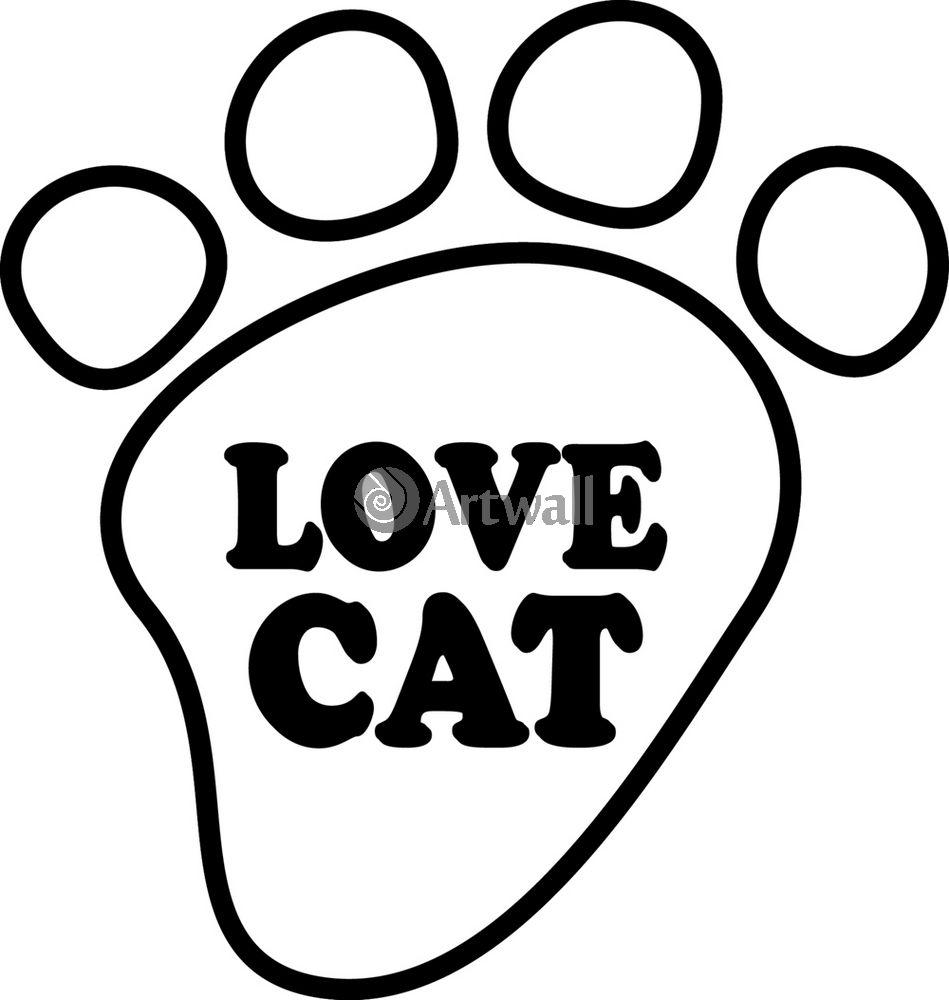 Наклейка «Love cat»Любовь<br><br>