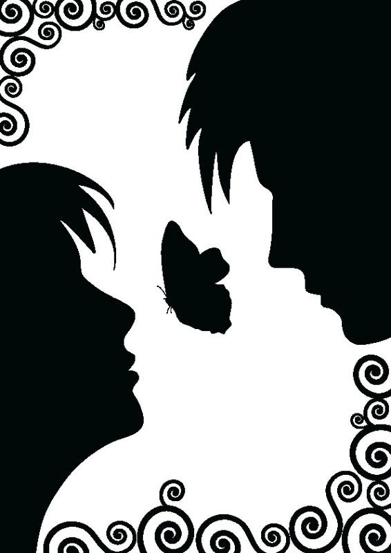 Наклейка «Бабочка между лиц»Любовь<br><br>