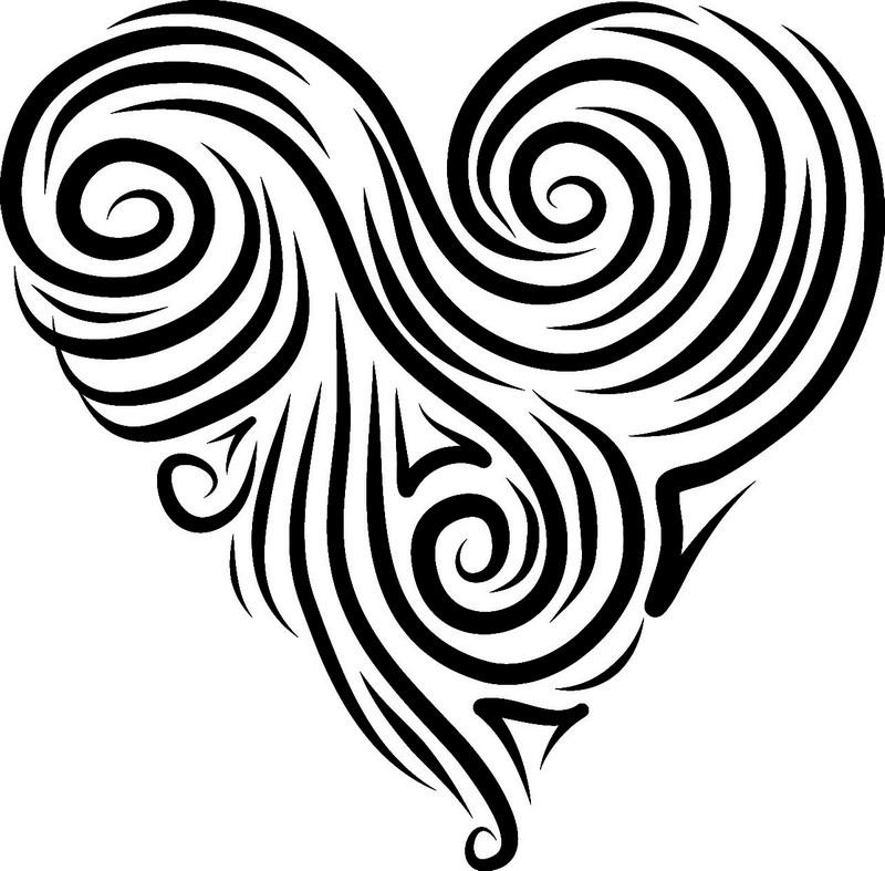 Наклейка «Сердце из завитушек»Любовь<br><br>
