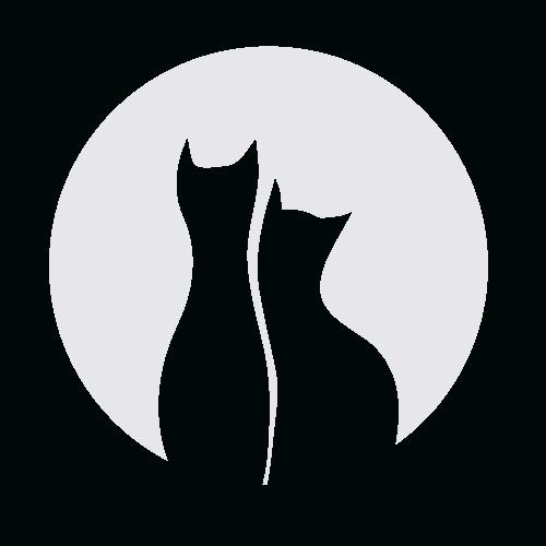 Наклейка «Коты при луне»Любовь<br><br>
