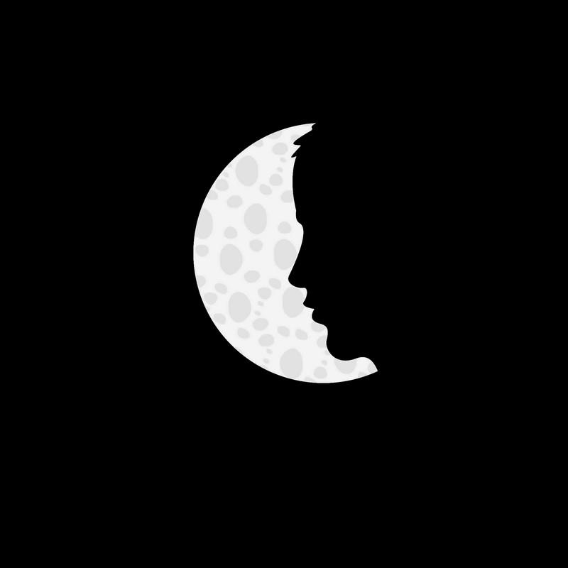 Наклейка «Лицо и луна»Люди<br><br>
