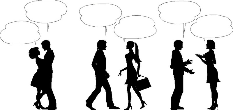 Наклейка «Разговоры»Люди<br><br>