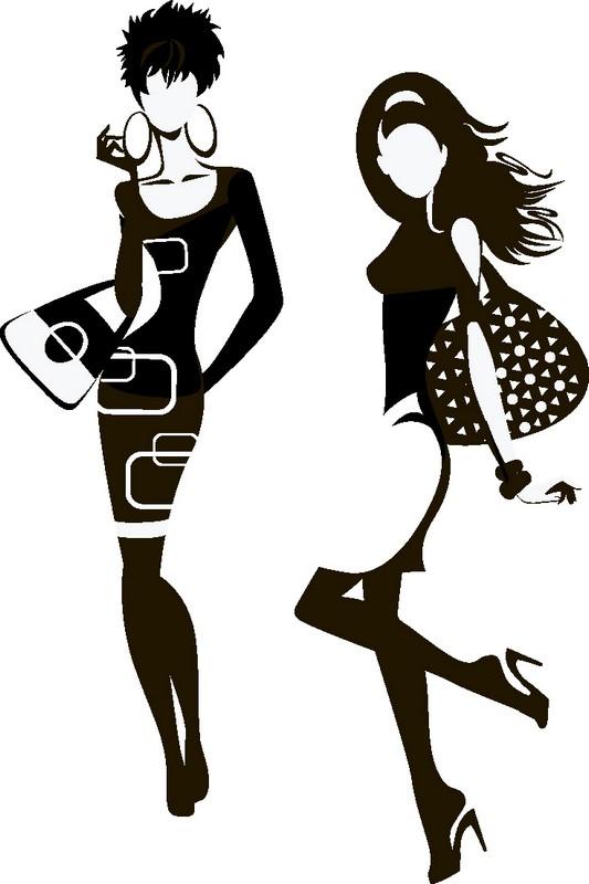 Наклейка «Модницы»Люди<br><br>