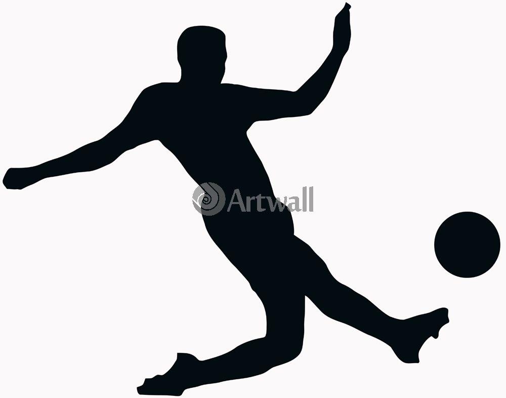 Наклейка «Футболист наносит удар»Люди<br><br>