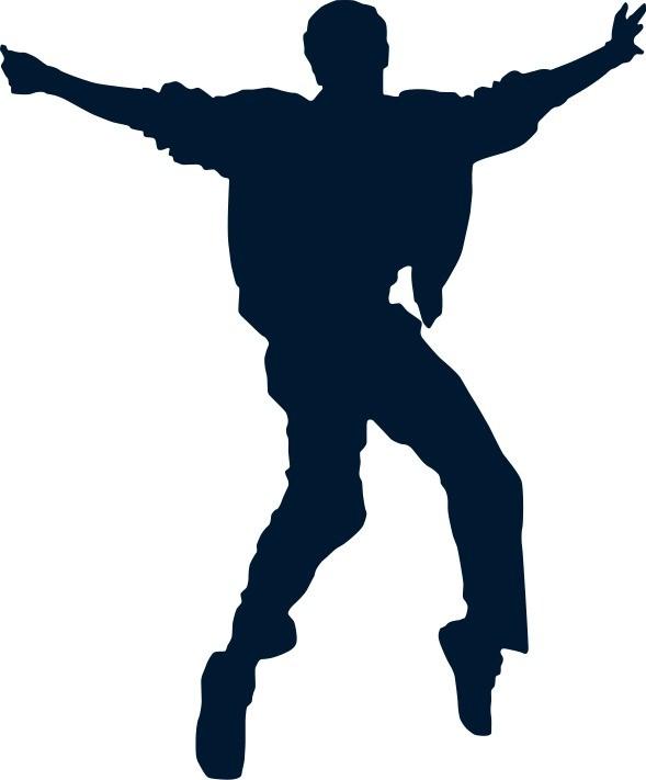 Наклейка «Танцор диско»Люди<br><br>