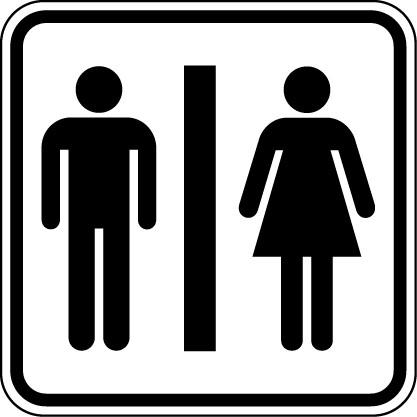 Наклейка «WC»Люди<br><br>