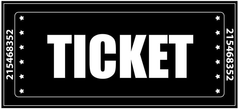 Наклейка «Билет»Надписи<br><br>