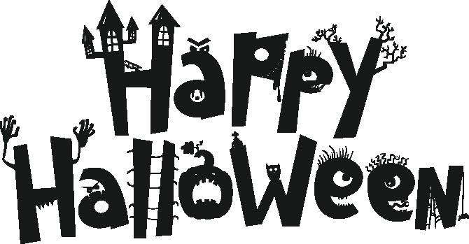 Наклейка «Happy halloween»Надписи<br><br>