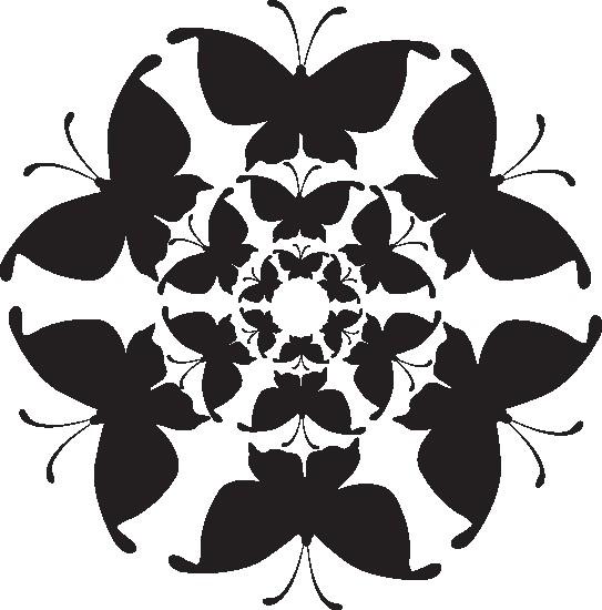 Наклейка «Цветок из бабочек»Насекомые<br><br>