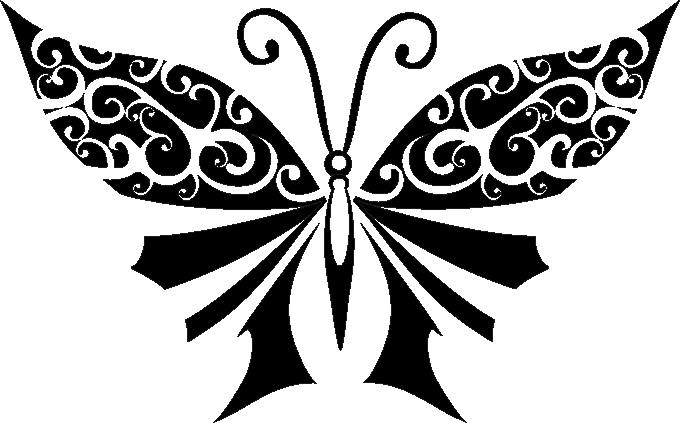 Наклейка «Бабочка с узорами»Насекомые<br><br>