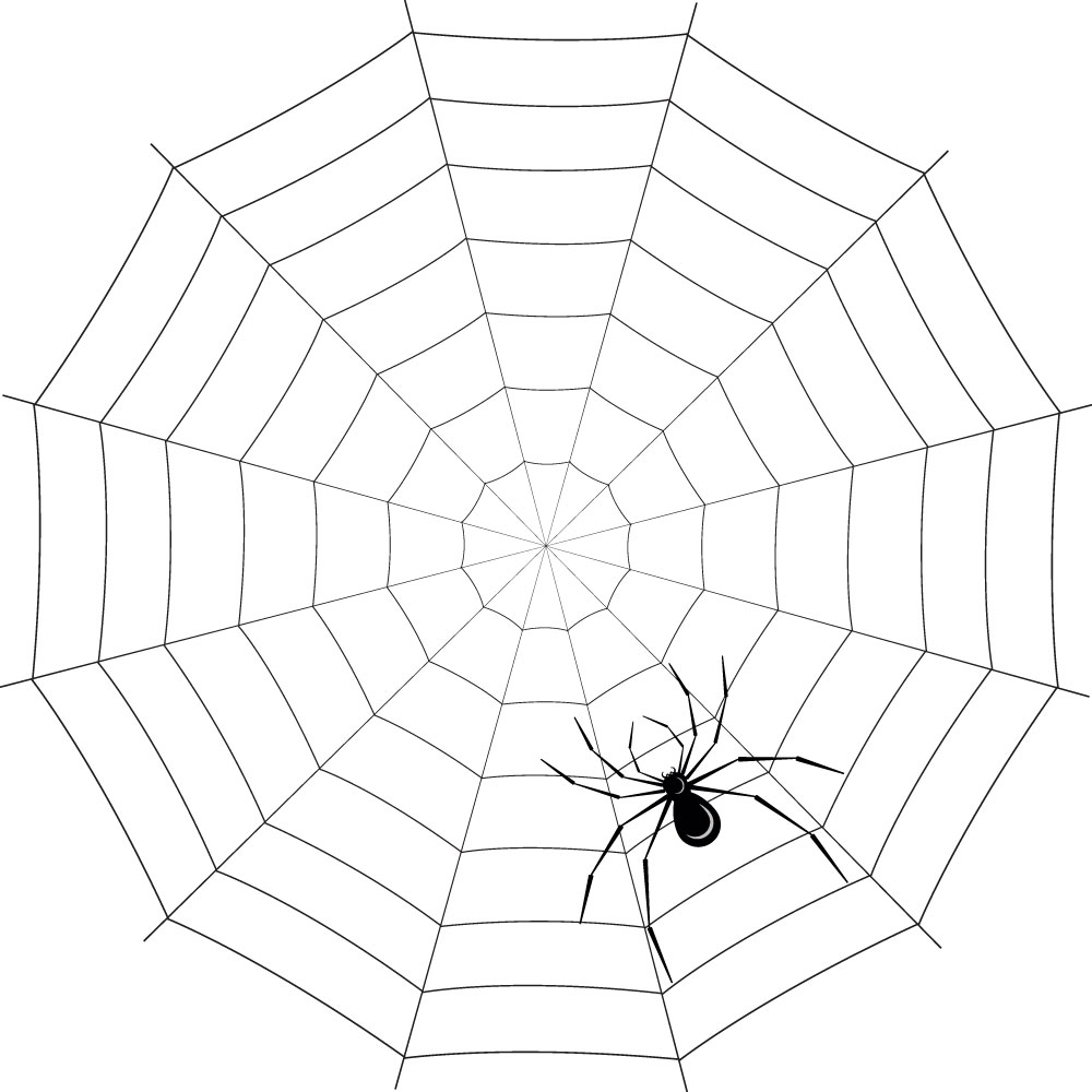 Наклейка «Паук плетёт паутину»Насекомые<br><br>