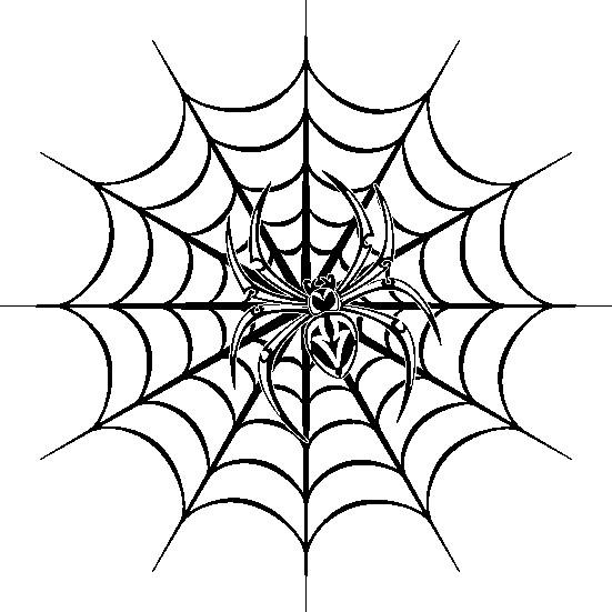 Наклейка «Паук в центре паутины»Насекомые<br><br>