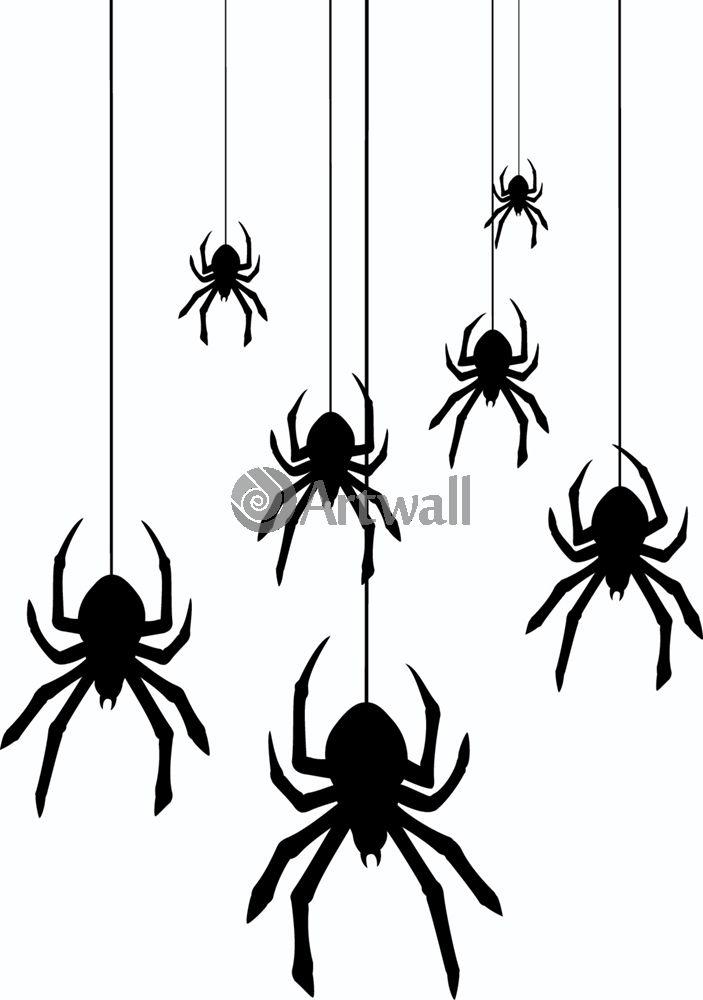 Наклейка «Пауки на паутинках»Насекомые<br><br>