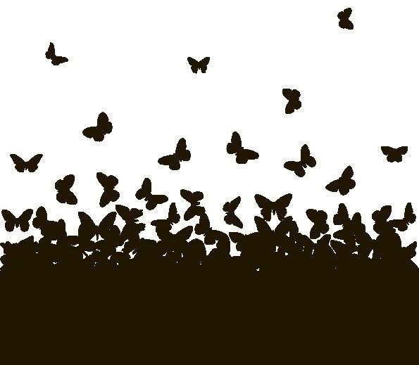 Наклейка «Взлетающие бабочки»Насекомые<br><br>