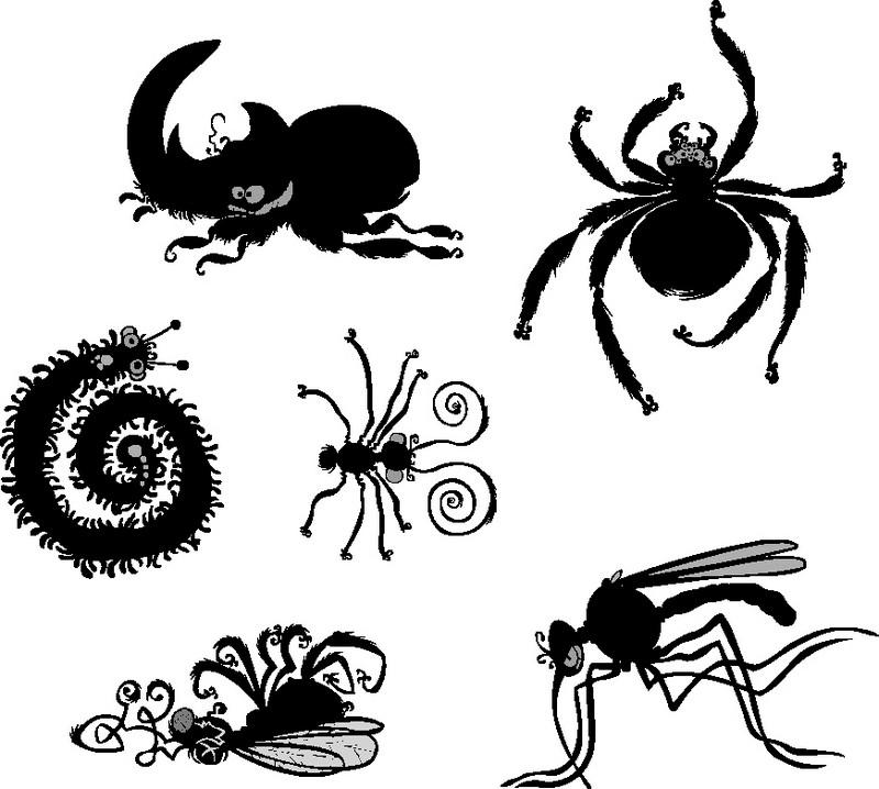 Наклейка «Шестеро насекомых»Насекомые<br><br>