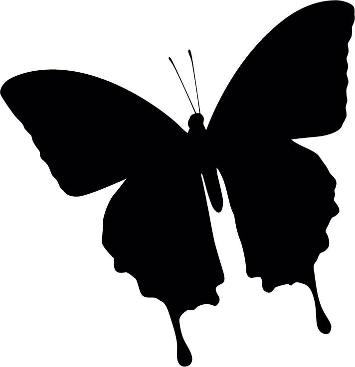 Наклейка «Чёрная бабочка»Насекомые<br><br>