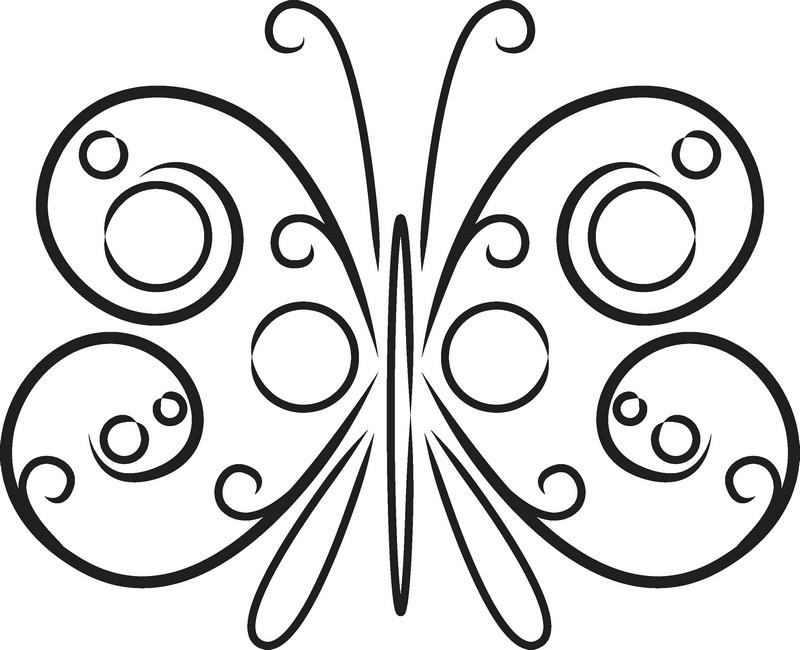 Наклейка «Бабочка из кружков»Насекомые<br><br>
