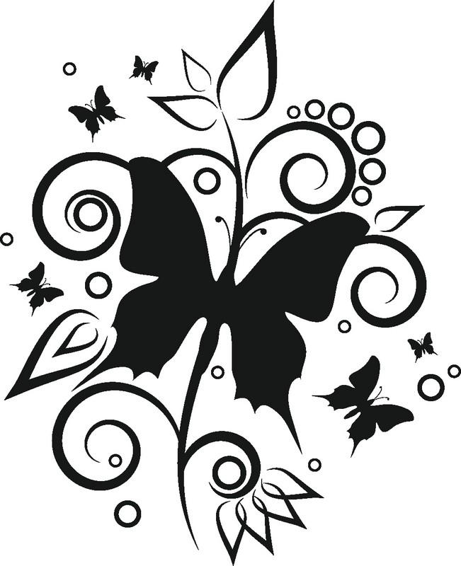 Наклейка «Бабочка с детьми»Насекомые<br><br>
