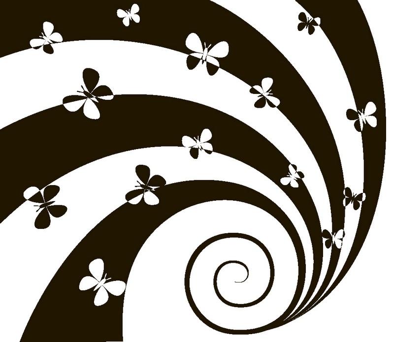 Наклейка «Бабочки на спирали»Насекомые<br><br>