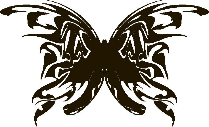 Наклейка «Тёмная бабочка»Насекомые<br><br>