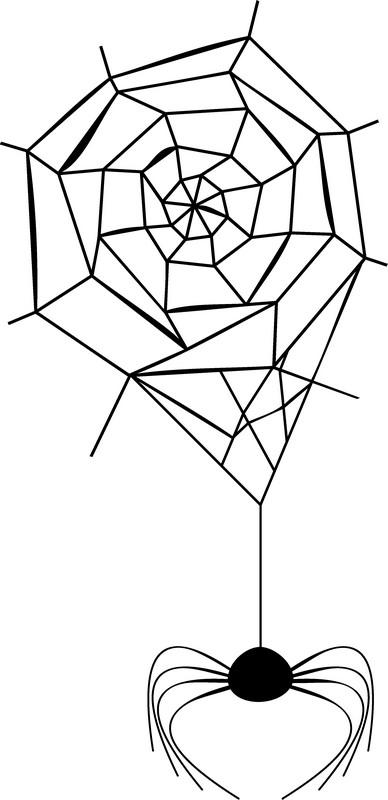Наклейка «Паутина и паук»Насекомые<br><br>