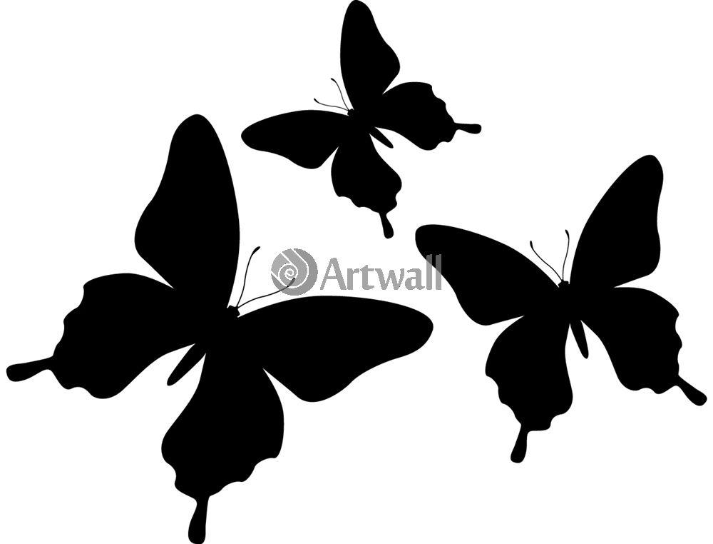 Наклейка «Три бабочки»Насекомые<br><br>