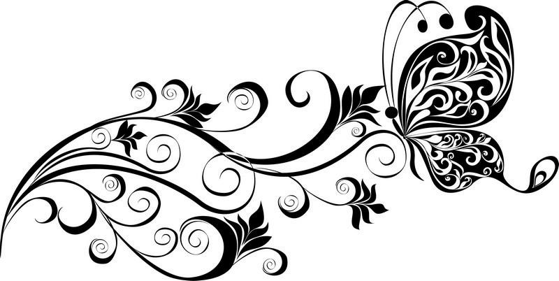 Наклейка «Бабочка на цветке»Насекомые<br><br>