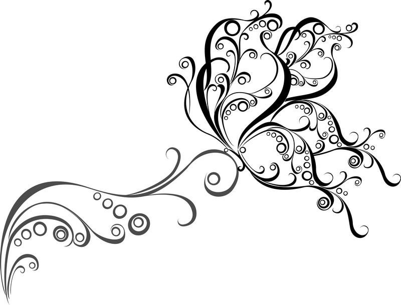 Наклейка «Наклонившийся цветок»Орнаменты<br><br>