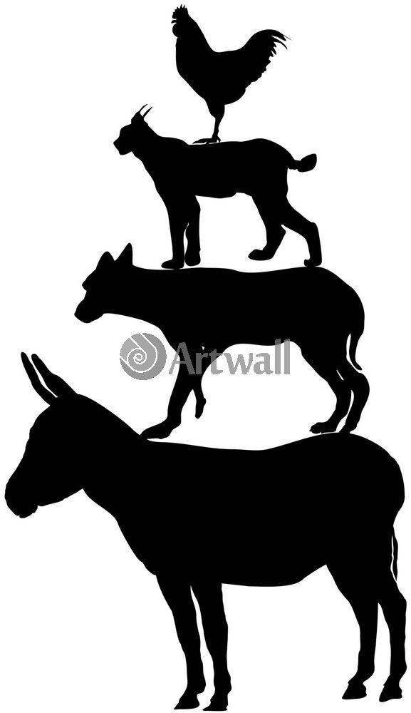 Наклейка «Животные друг на друге»Путешествия<br><br>