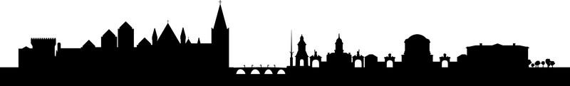 Наклейка «Вид на город»