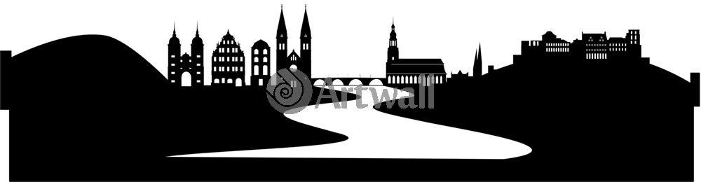 Наклейка «Город на реке»Путешествия<br><br>