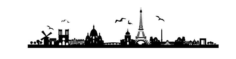 Наклейка «Птицы над городом»