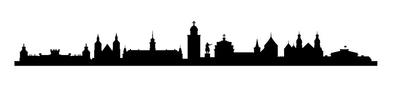 Наклейка «Панорама города»