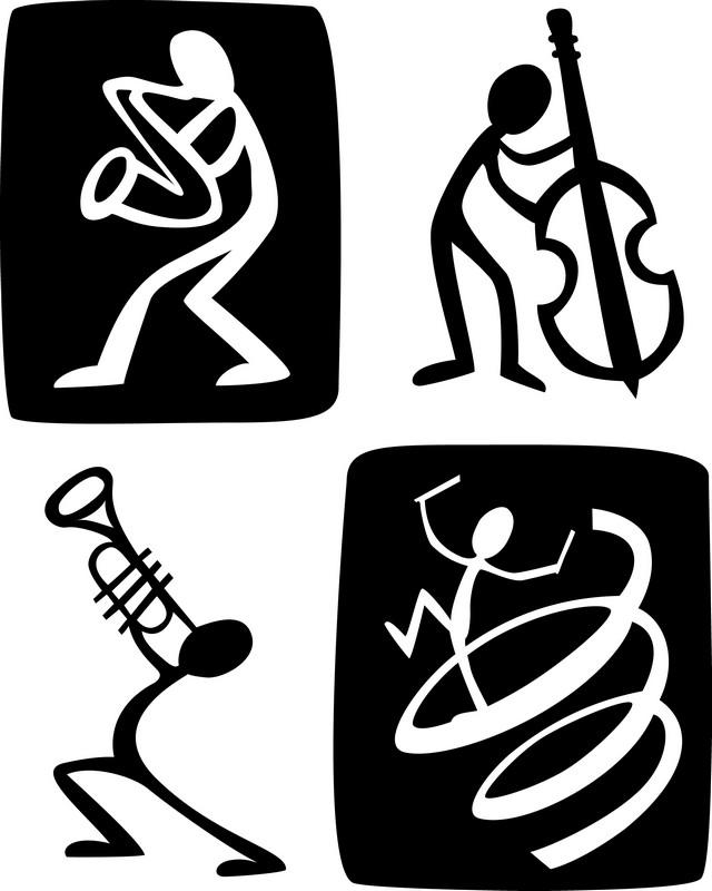 Наклейка «Музыканты»Разное<br><br>