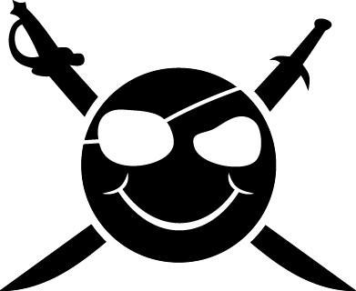 Наклейка «Смайлик-Пират»Разное<br><br>