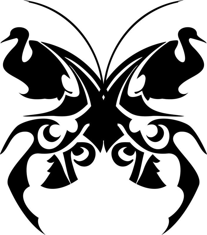 Наклейка «Бабочка и лебеди»Разное<br><br>