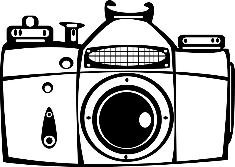 Наклейка «Старый фотоаппарат»Разное<br><br>