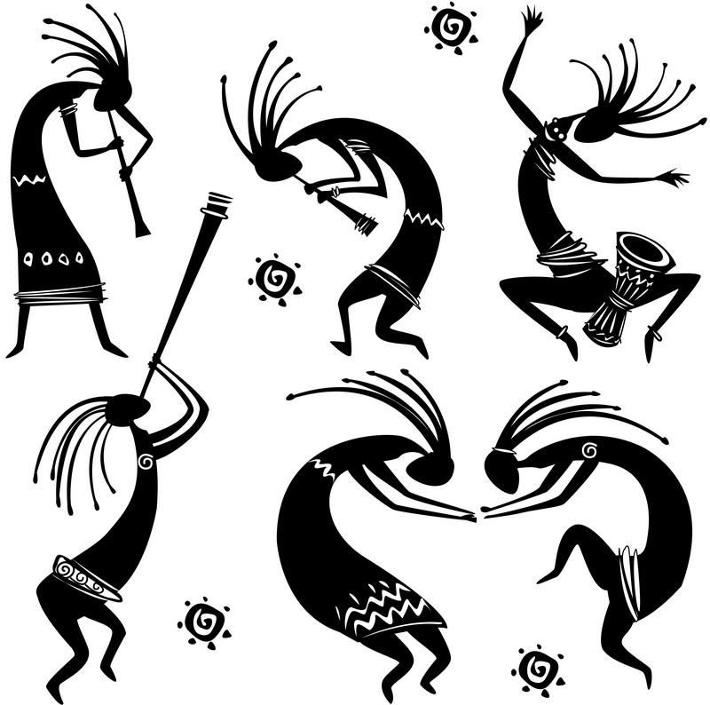 Наклейка «Ритуальные танцы»Разное<br><br>