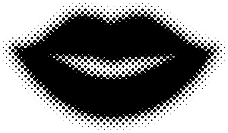 Наклейка «Губы»Разное<br><br>