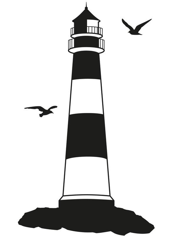 Наклейка «Птицы над маяком»Разное<br><br>