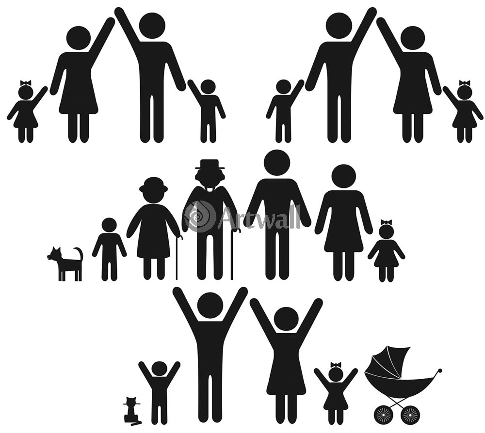 Наклейка «Большая семья»Сюжеты<br><br>