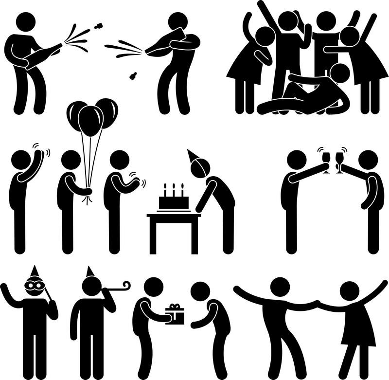 Наклейка «Вечеринка на День Рождения»Сюжеты<br><br>