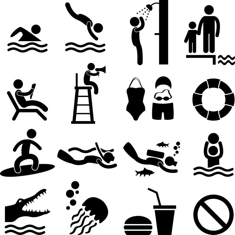 Наклейка «Пляжники»Сюжеты<br><br>