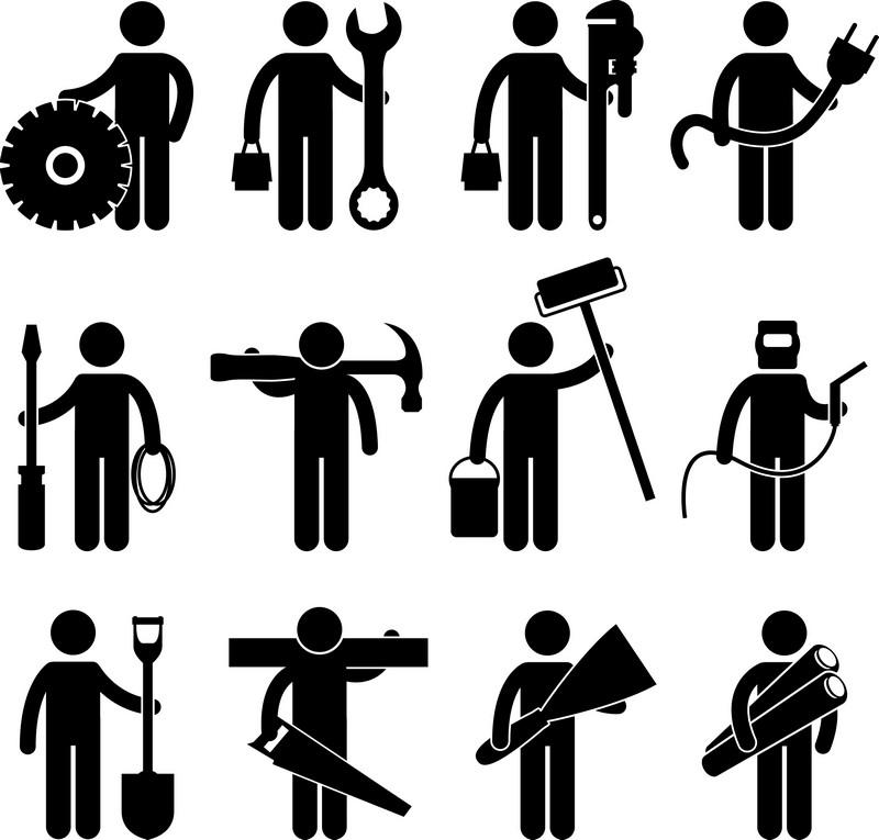 Наклейка «Дюжина рабочих»Сюжеты<br><br>