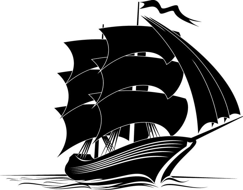 Наклейка «Корабль на всех парусах»Транспорт<br><br>
