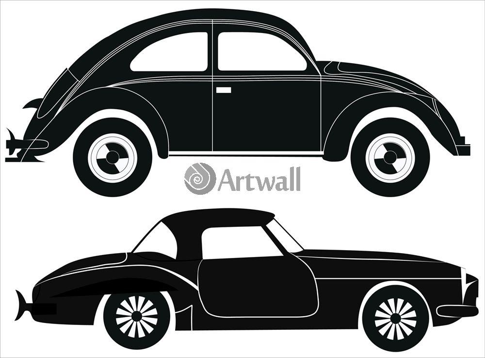Наклейка «Две машины»Транспорт<br><br>