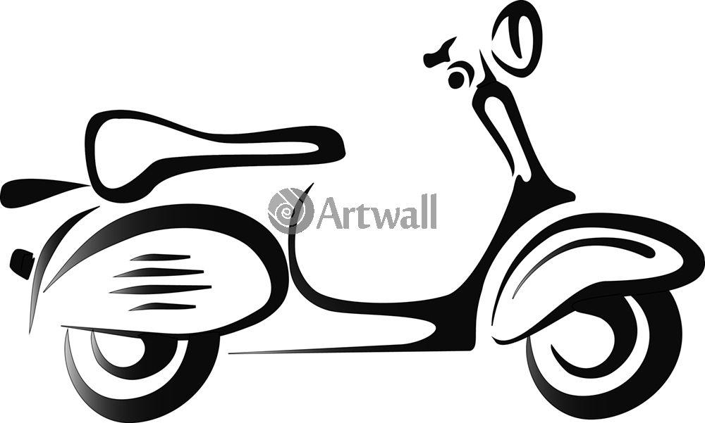 Наклейка «Мотороллер»Транспорт<br><br>