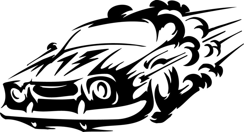 Наклейка «Горящая машина»Транспорт<br><br>