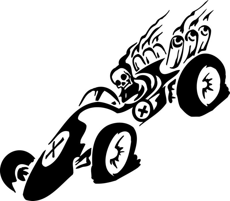 Наклейка «Призрачный гонщик»Транспорт<br><br>